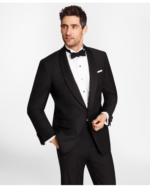 Brooks Brothers - Black One-button Shawl Collar Tuxedo Jacket for Men - Lyst