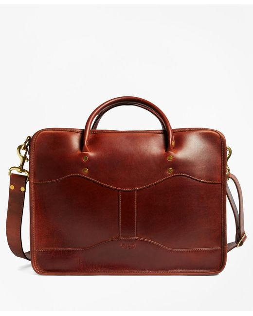 Brooks Brothers | Brown J.w. Hulme Leather Overnight Briefcaseÿ for Men | Lyst