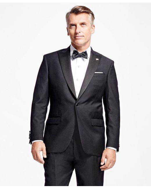 Brooks Brothers | Black One-button Peak Lapel Tuxedo Jacket for Men | Lyst