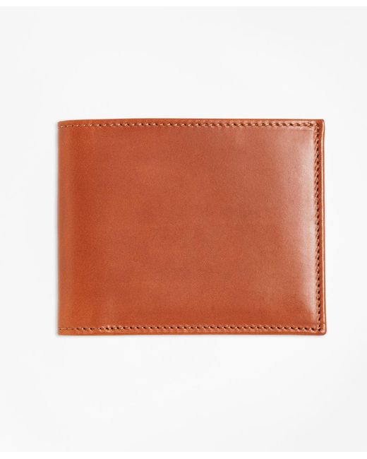 Brooks Brothers | Brown Vegetable Tanned Leather Wallet for Men | Lyst