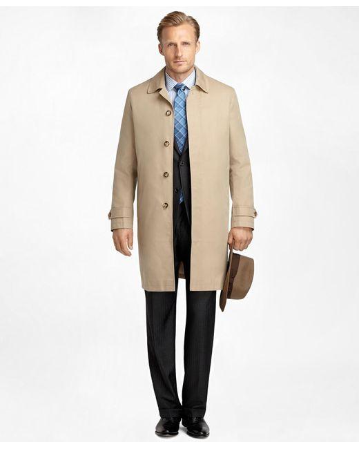 Brooks Brothers - Natural Newbury Khaki Trench Coat for Men - Lyst