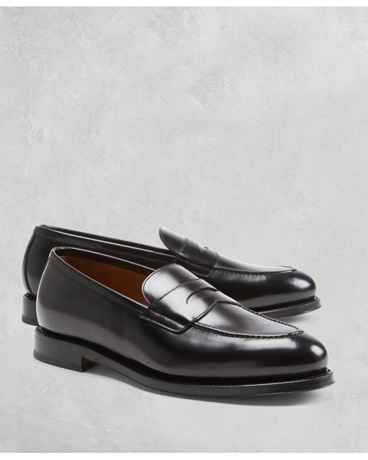 Brooks Brothers - Black Golden Fleece® Penny Loafers for Men - Lyst