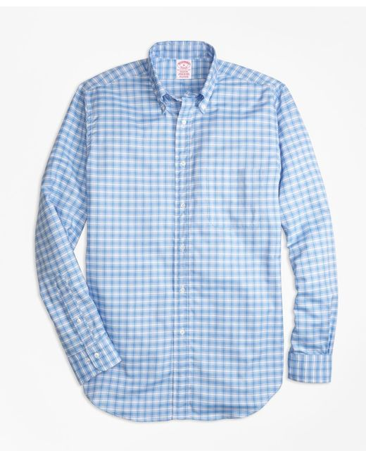 Brooks Brothers - Blue Madison Fit Oxford Check Sport Shirt for Men - Lyst