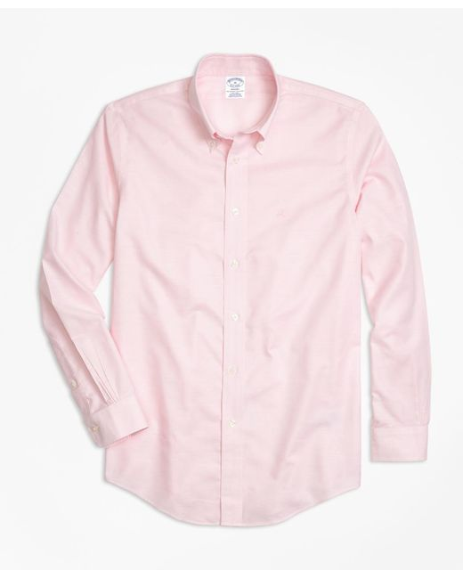 Brooks Brothers - Pink Non-iron Regent Fit Oxford Sport Shirt for Men - Lyst