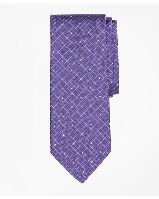 Brooks Brothers - Purple Windowpane Dot Tie for Men - Lyst
