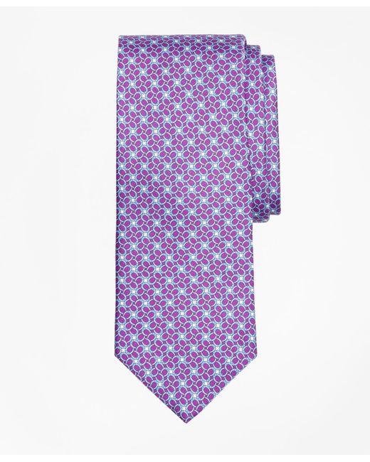 Brooks Brothers | Purple Horseshoe Motif Print Tie for Men | Lyst