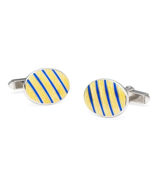 Brooks Brothers - Blue Single Stripe Cuff Links for Men - Lyst