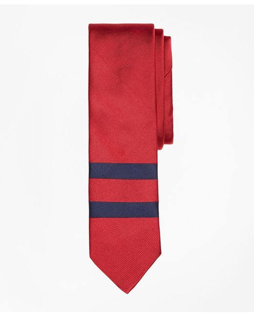 Brooks Brothers   Red Placed Double-stripe Silk Tie for Men   Lyst