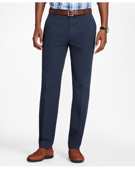 Brooks Brothers - Blue Milano Fit Seersucker Pants for Men - Lyst