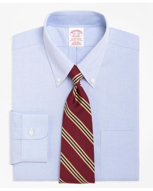 Brooks Brothers | Blue Non-iron Traditional Fit Button-down Collar Dress Shirt for Men | Lyst