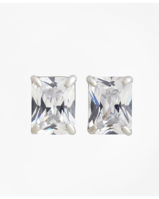 Brooks Brothers | Metallic Pierced Square Stud Earrings | Lyst