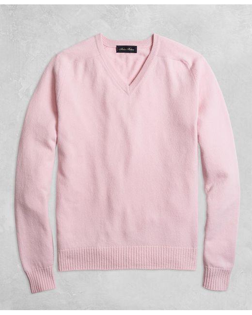 Brooks Brothers - Pink Golden Fleece® 3-d Knit Cashmere V-neck Sweater for Men - Lyst