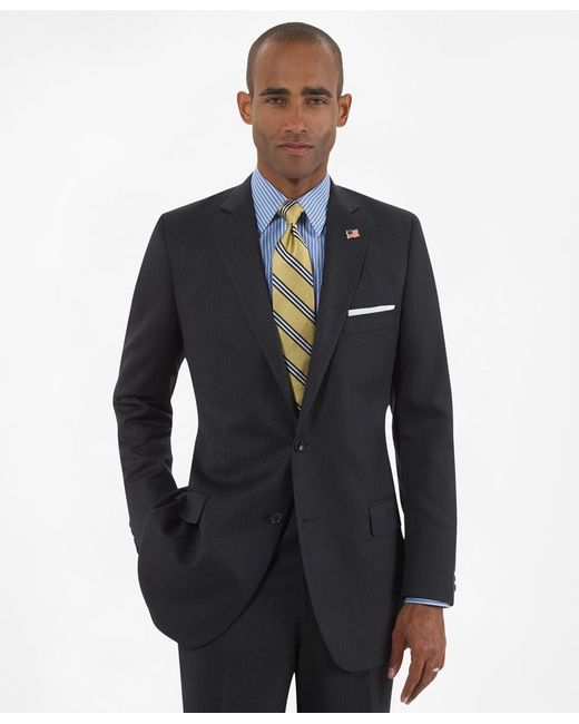 Brooks Brothers | Gray Fitzgerald Fit Saxxon Wool Herringbone 1818 Suit for Men | Lyst