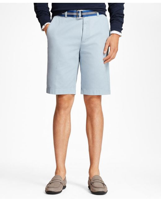 """Brooks Brothers - Blue Garment-dyed 10"""" Bermuda Shorts for Men - Lyst"""