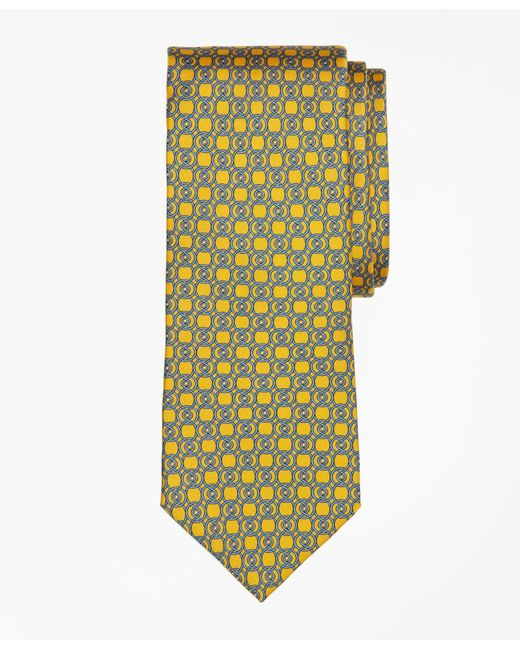 Brooks Brothers - Yellow Circle Link Print Tie for Men - Lyst