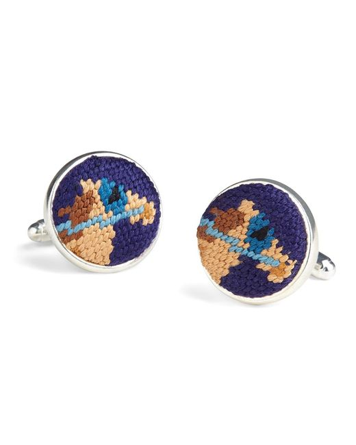 Brooks Brothers - Blue Needlepoint Horse Cuff Links for Men - Lyst
