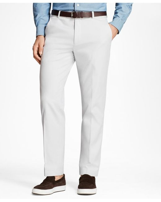 Brooks Brothers - Gray Milano Fit Supima® Cotton Stretch Chinos for Men - Lyst