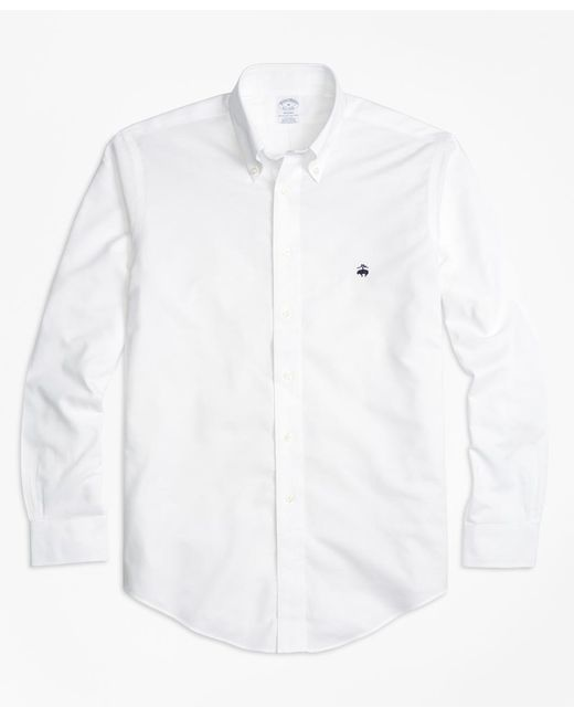 Brooks Brothers - White Non-iron Regent Fit Oxford Sport Shirt for Men - Lyst