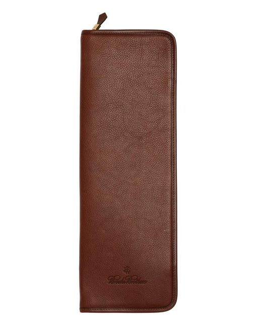 Brooks Brothers - Brown Leather Tie Case for Men - Lyst