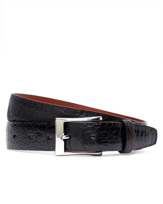 Brooks Brothers | Black Ostrich Leather Belt for Men | Lyst