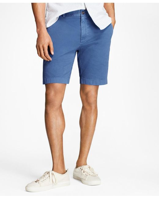 Brooks Brothers | Blue Stretch Cotton Twill Shorts for Men | Lyst