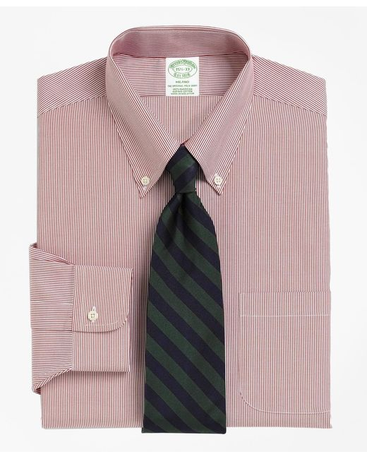 Brooks Brothers   Red Milano Fit Stripe Dress Shirt for Men   Lyst
