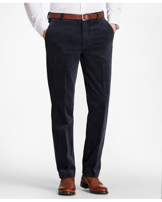 Brooks Brothers | Blue Clark Fit Wide Wale Stretch Corduroys for Men | Lyst