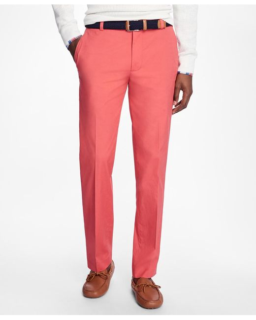 Brooks Brothers | Red Milano Fit Supima® Cotton Poplin Pants for Men | Lyst