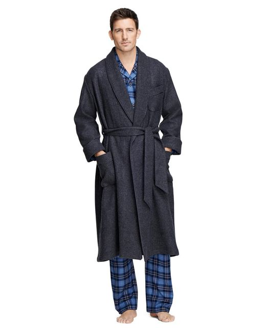 Brooks Brothers - Gray Cashmere And Wool Robe for Men - Lyst