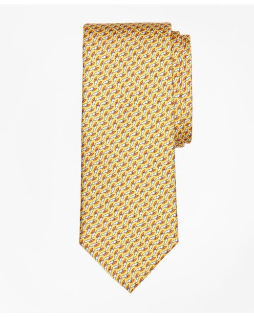 Brooks Brothers - Yellow Windboard Print Tie for Men - Lyst