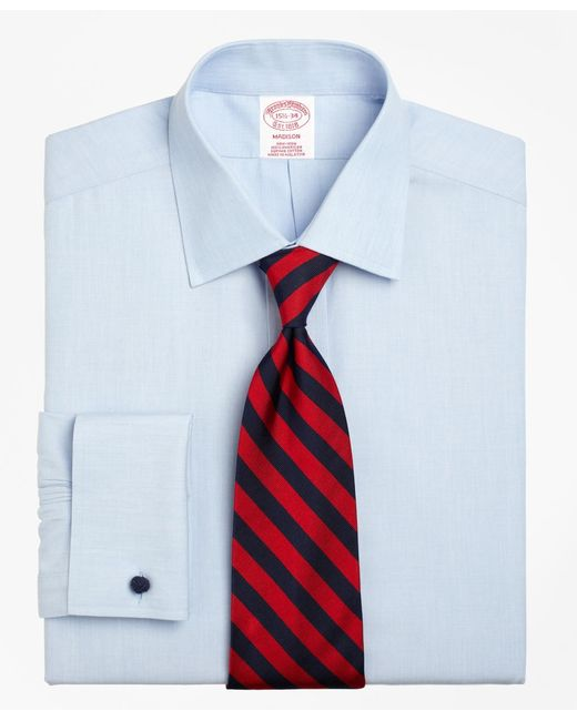 Brooks Brothers - Blue Non-iron Madison Fit Spread Collar French Cuff Dress Shirt for Men - Lyst