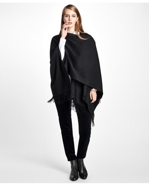 Brooks Brothers - Black Cashmere Ruana - Lyst