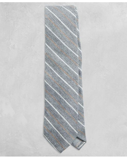 Brooks Brothers - Gray Golden Fleece® Two-tone Stripe Tie for Men - Lyst