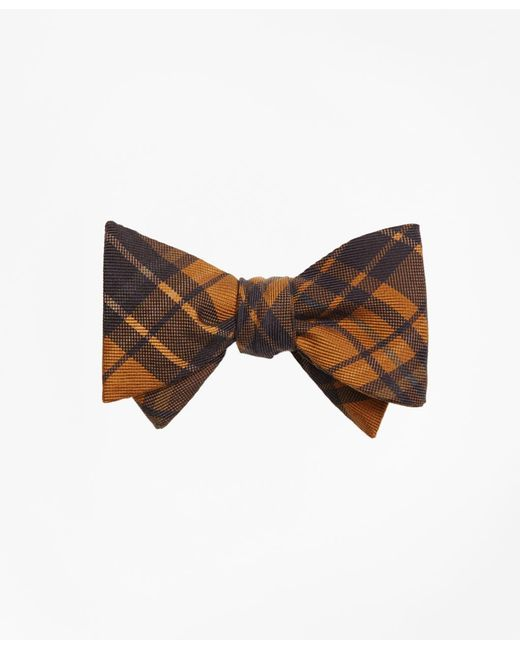 Brooks Brothers - Metallic Ancient Madder Plaid Print Bow Tie for Men - Lyst