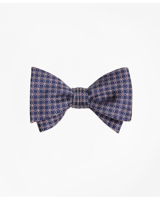 Brooks Brothers - Blue Parquet Link Bow Tie for Men - Lyst
