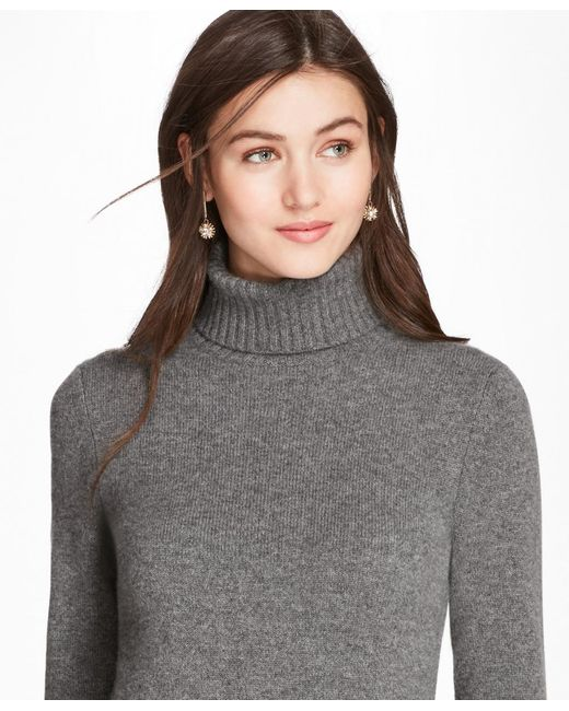 Brooks Brothers - Gray Cashmere Turtleneck - Lyst