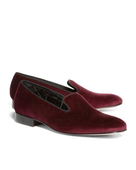 Brooks Brothers   Purple Velvet Slippers for Men   Lyst