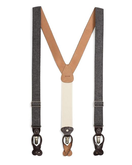 Brooks Brothers | Black Tweed Suspenders for Men | Lyst