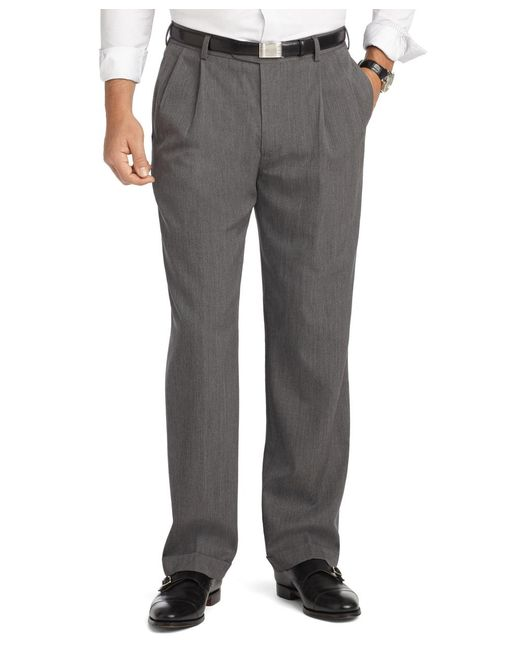 Brooks Brothers - Gray Madison Fit Pleat-front Unfinished Gabardine Trousers for Men - Lyst
