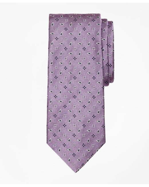 Brooks Brothers | Purple Spaced Flower And Pine Tie for Men | Lyst