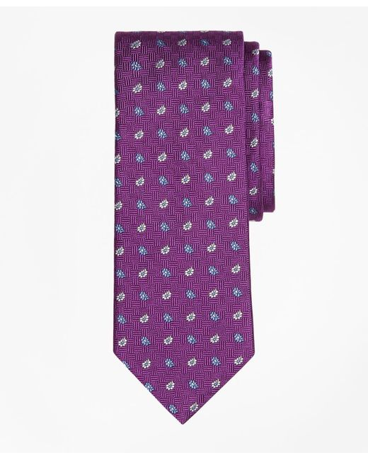 Brooks Brothers - Purple Parquet Tossed Pine Tie for Men - Lyst
