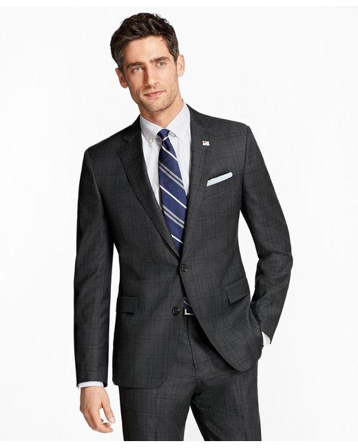 Brooks Brothers | Gray Regent Fit Plaid 1818 Suit for Men | Lyst
