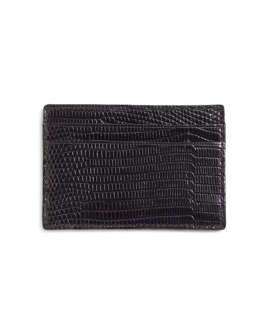 Brooks Brothers - Black Lizard Wallet for Men - Lyst