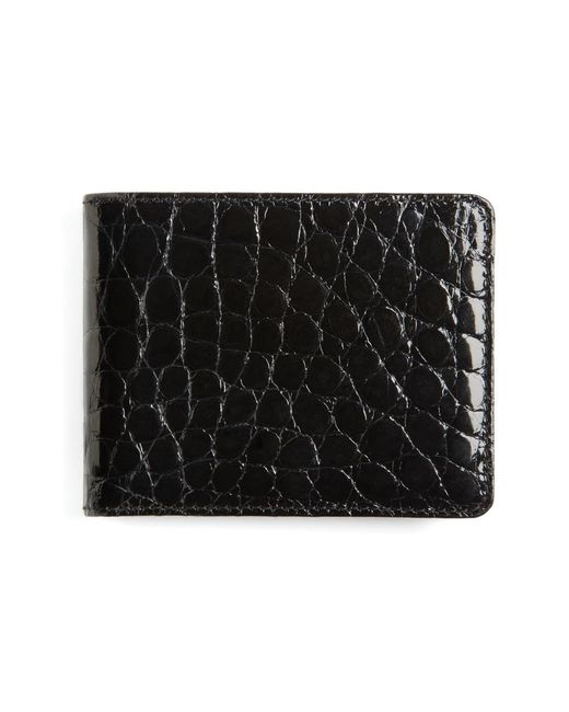 Brooks Brothers | Black American Alligator Wallet for Men | Lyst