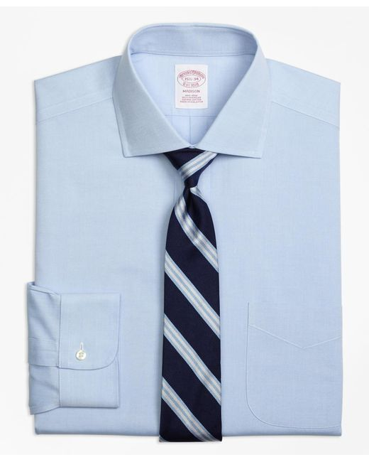 Brooks Brothers - Blue Non-iron Regent Fit Spread Collar Dress Shirt for Men - Lyst