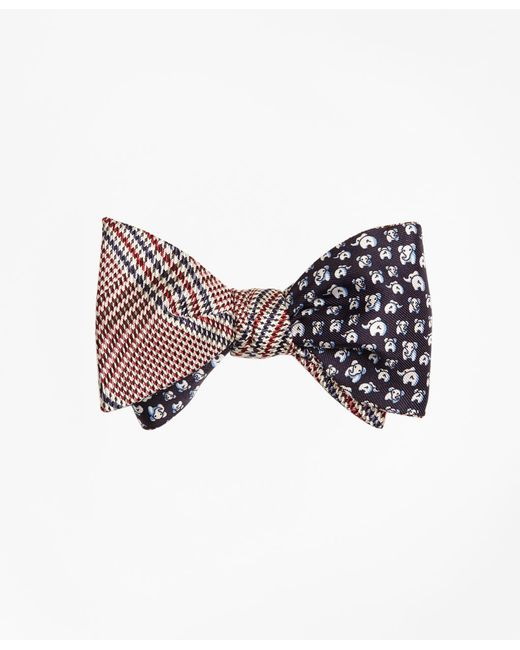 Brooks Brothers | Multicolor Plaid With Elephant Motif Reversible Bow Tie for Men | Lyst