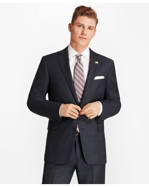 Brooks Brothers - Blue Regent Fit Open Plaid 1818 Suit for Men - Lyst