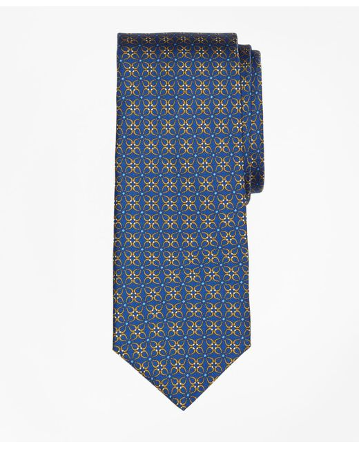 Brooks Brothers - Blue Horseshoe Link Print Tie for Men - Lyst