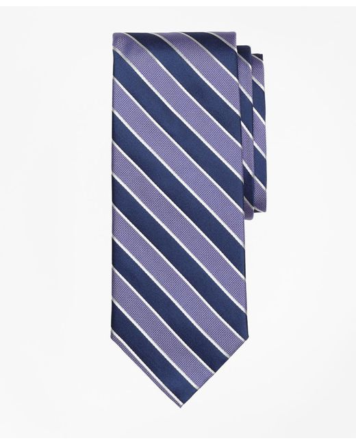 Brooks Brothers | Purple Framed Alternating Stripe Tie for Men | Lyst