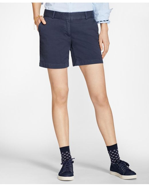 Brooks Brothers - Blue Stretch Cotton Twill Shorts - Lyst